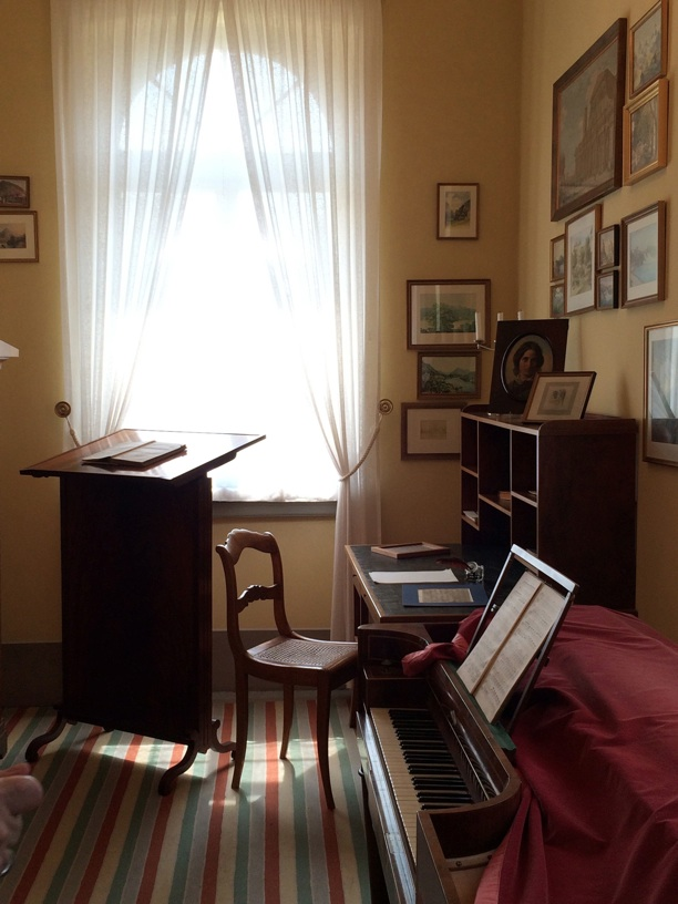 Mendelssohn's study reconstructed from a sketch by Felix Moscheles