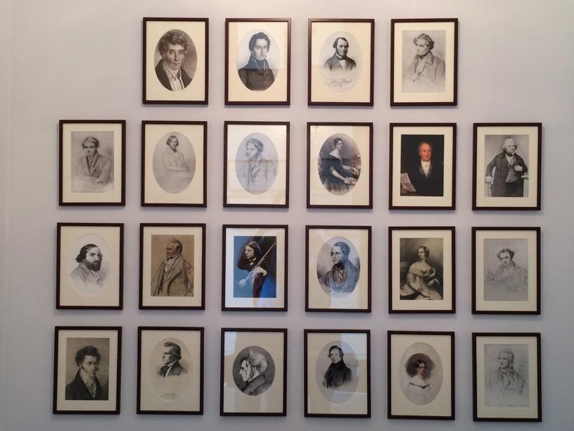 Hallway portraits of Mendelssohn's teachers and friends