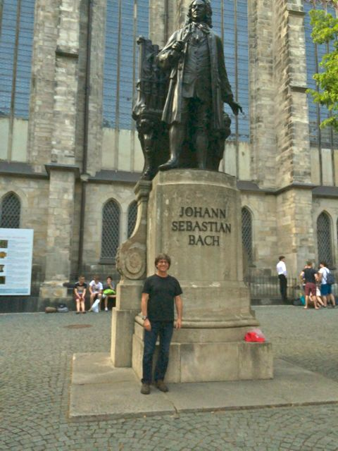 The Bach statue outside St. Thomas Kirche