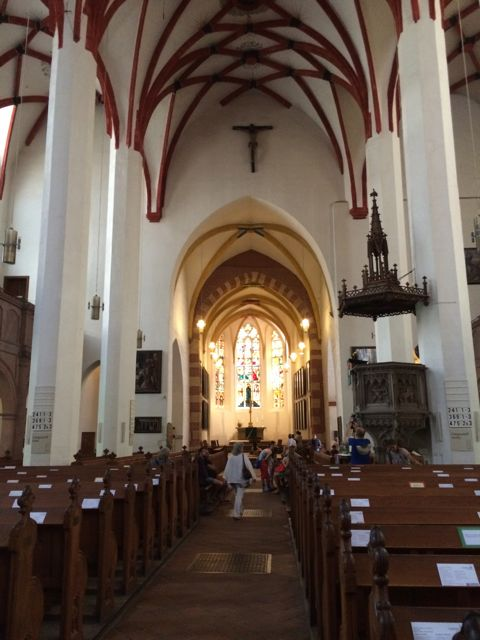 The renovated interior of St. Thomas Kirche