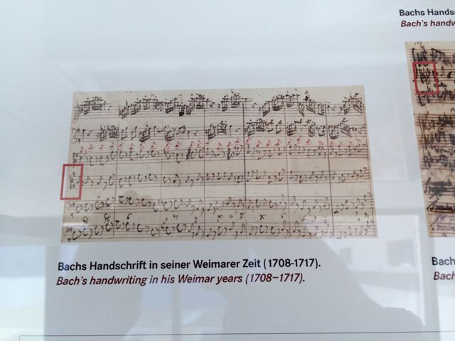 Bach's manuscript in his pre-Leipzig years
