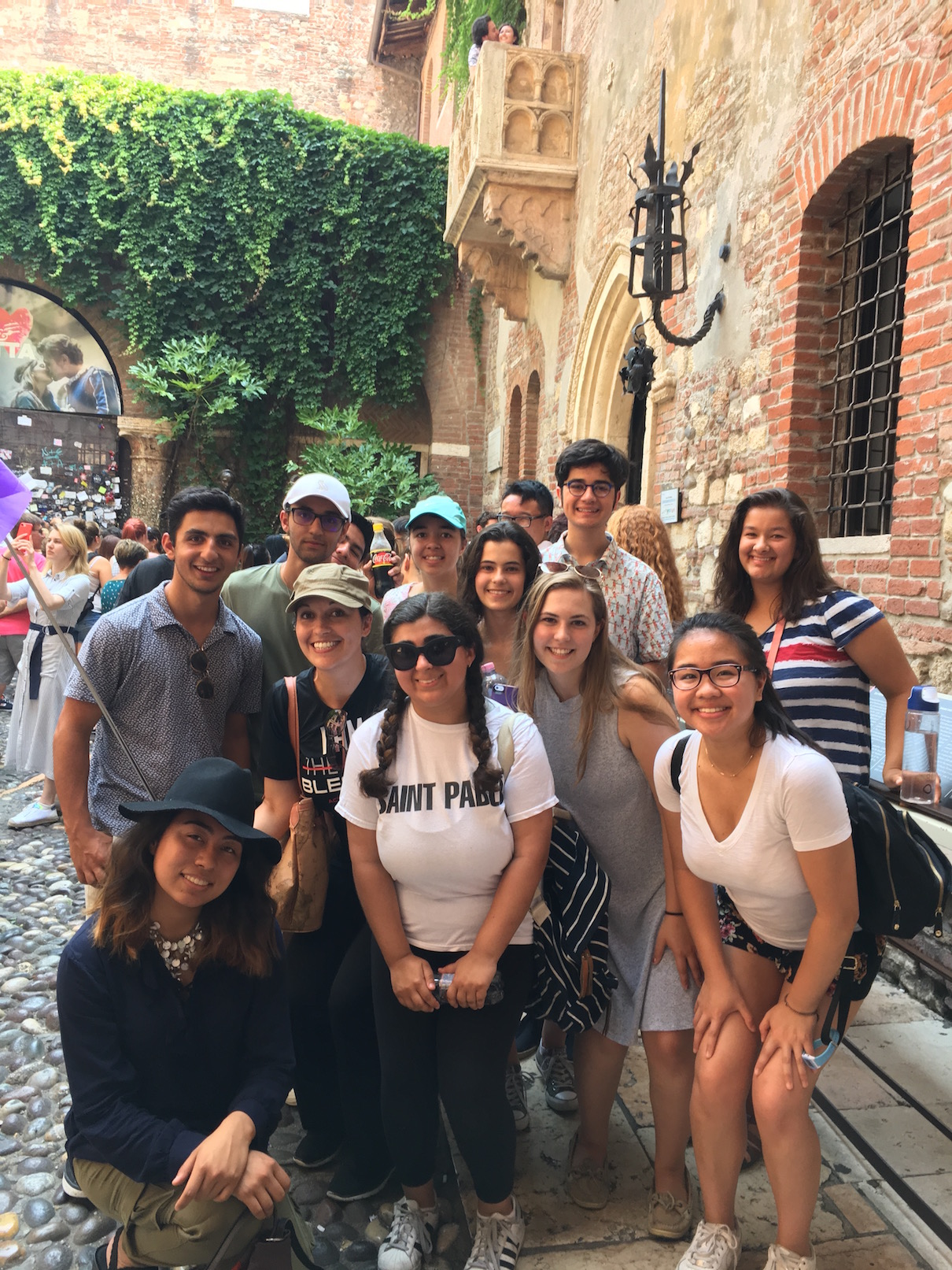 One of the groups outside Venice's Jewish ghetto, one of the oldest in the world.