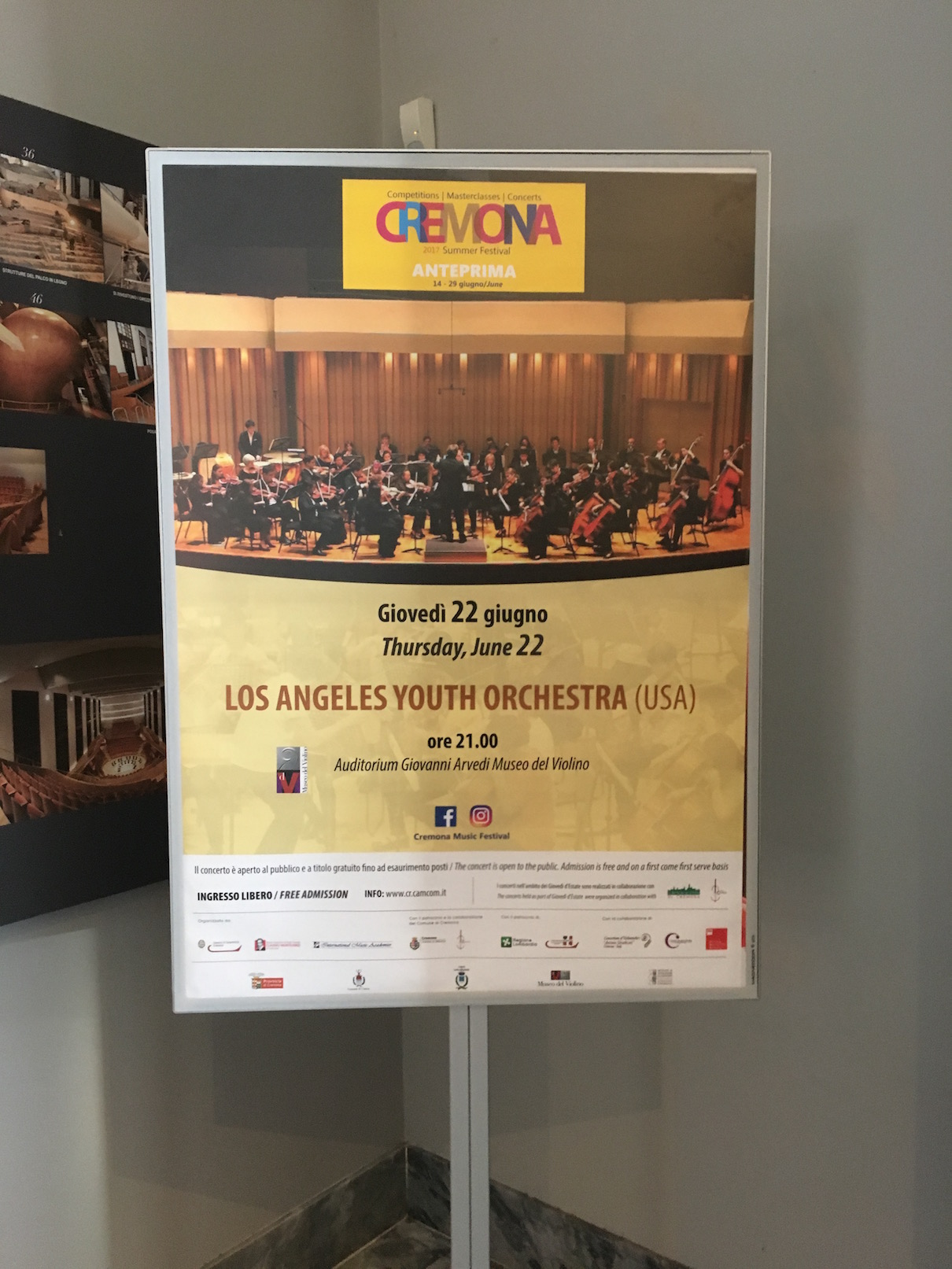 Poster for our Cremona concert