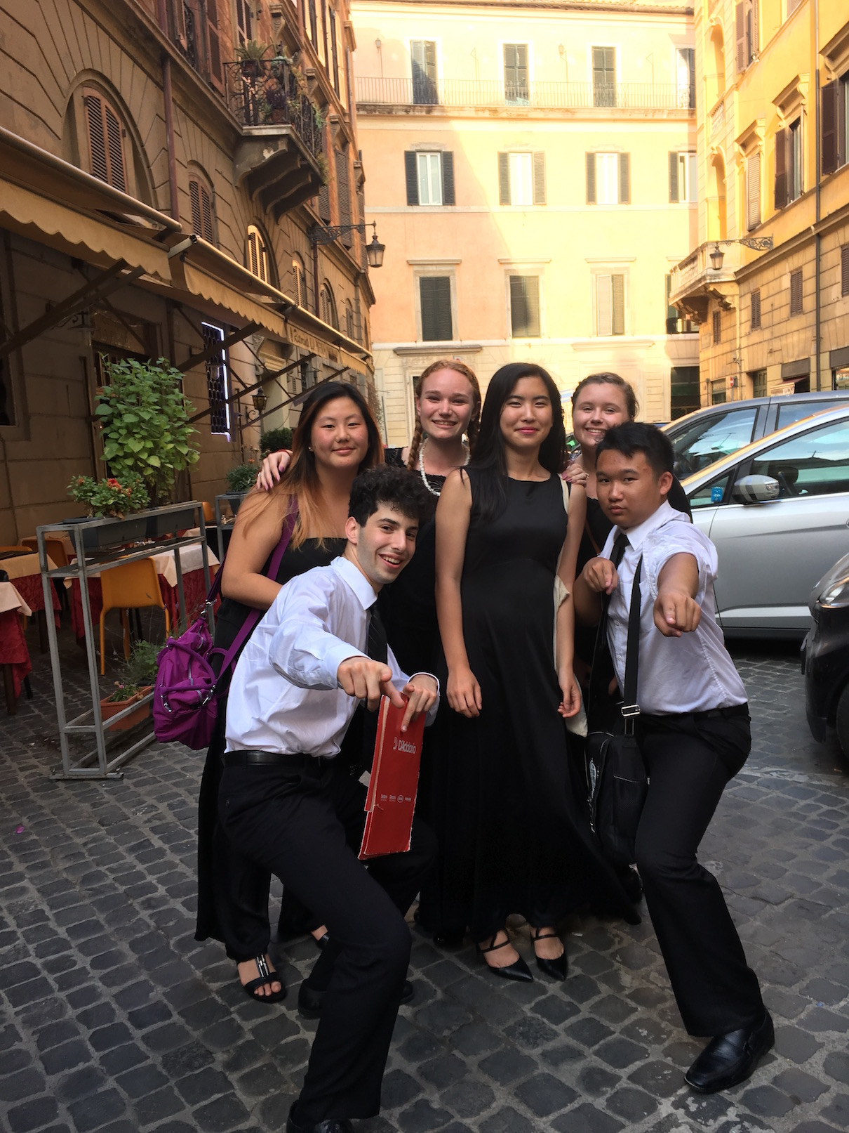 As the tour continued, the students bonded together closely. One of moments I won't forget was a day we all went to the beach and the entire orchestra was together frolicking in the small waves of the Mediterranean. I wish I had had a waterproof camera to record that!