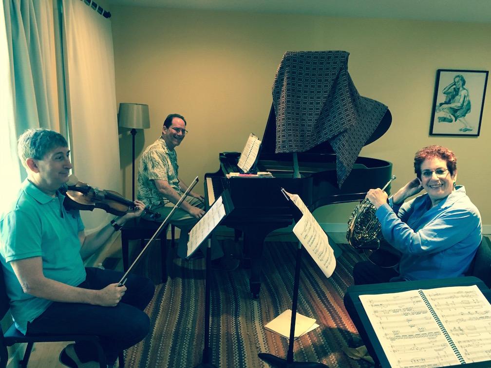 Sierra Ensemble: Randall Weiss,violin; Marc Steiner, piano; Janis Lieberman, French horn