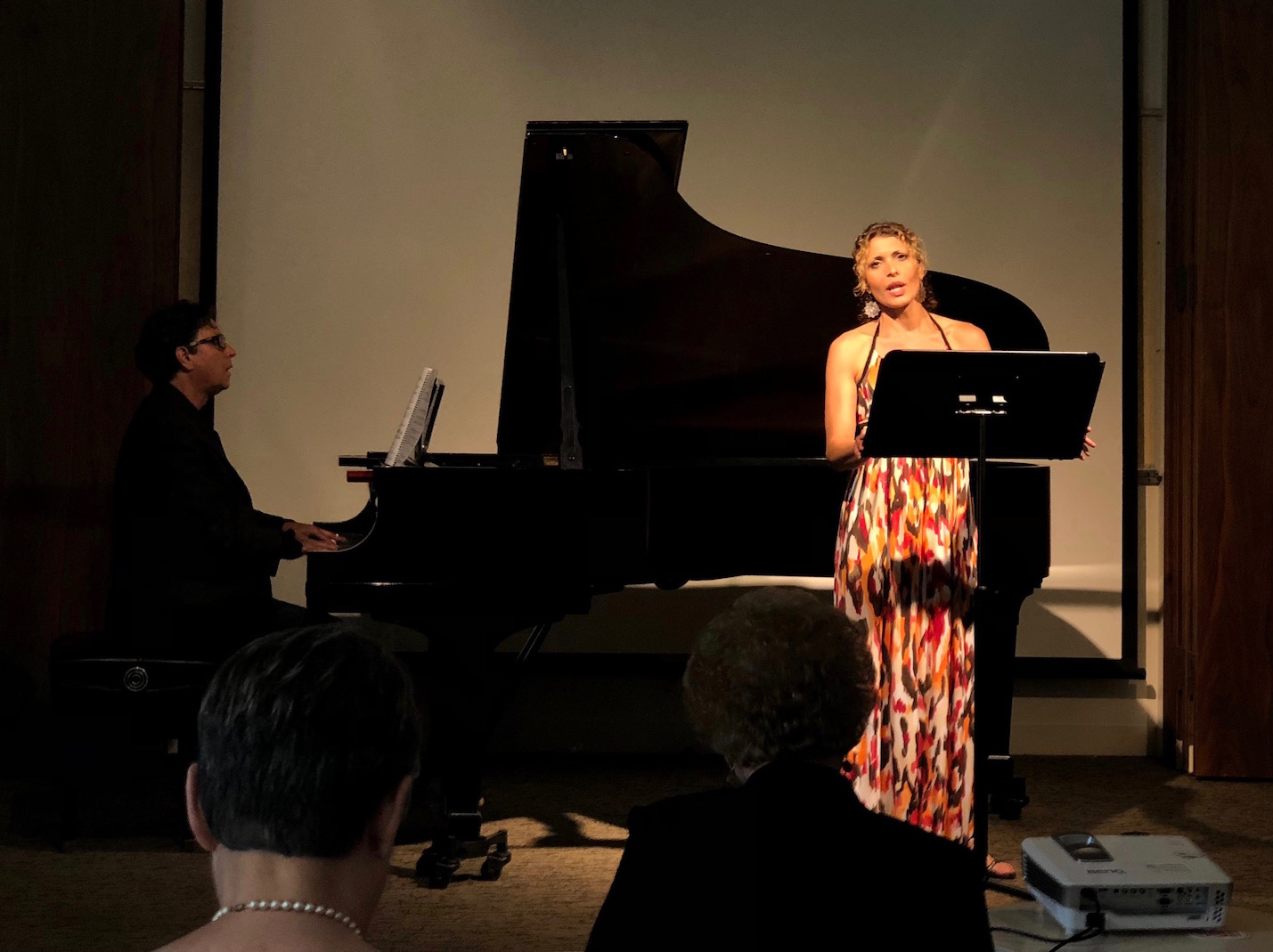 Mezzo Soprano Geeta Novotny and Composer/Pianist Russell Steinberg perform Rucksack at the NACUSA LA 85th Anniversary Concert, Brand Library, Pasadena, July 21, 2018