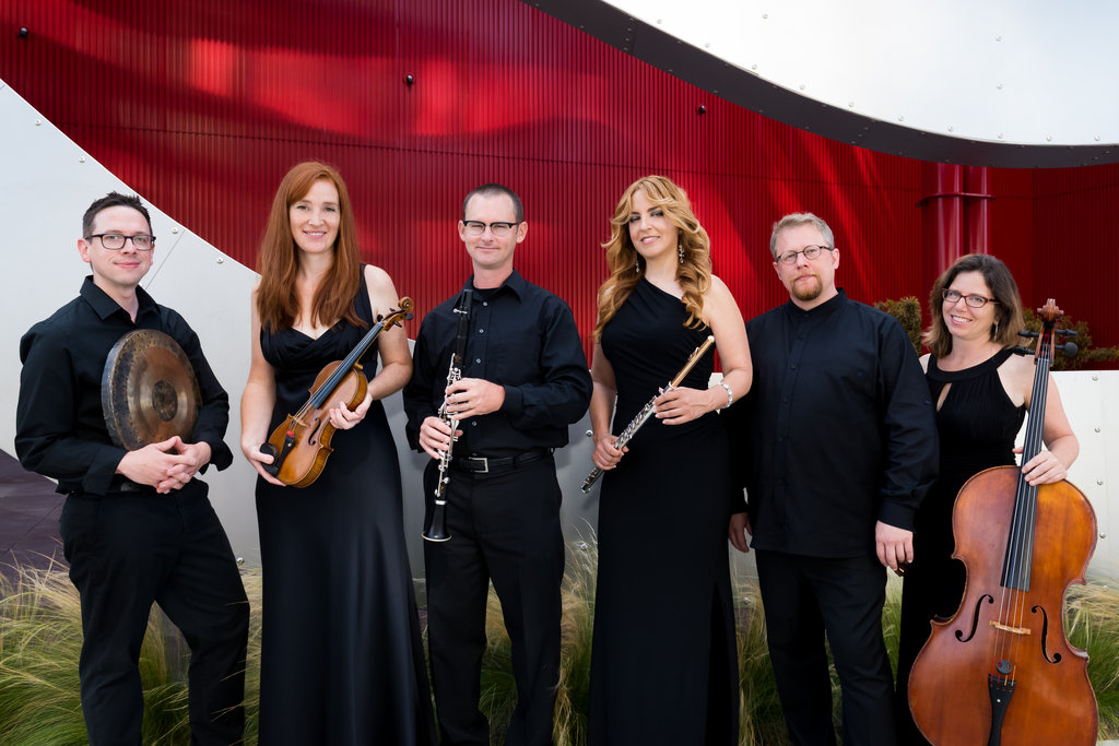 Brightwork newmusic (pictured) and mezzo soprano Geeta Novotny join Los Angeles Youth Orchestra students and alums in a chamber concert featuring Copland's Appalachian Spring, Russell Steinberg's Rucksack, and Shostakovich's String Quartet No.. 8