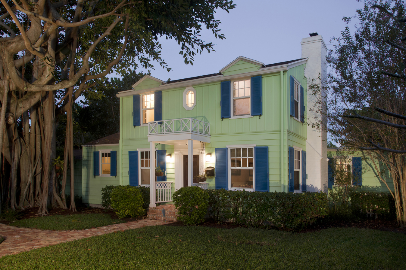 Front view of Delray Beach home