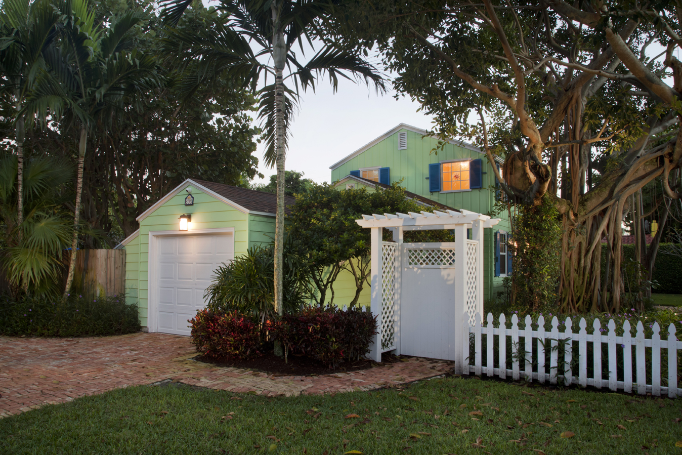 North side view of Delray Beach home