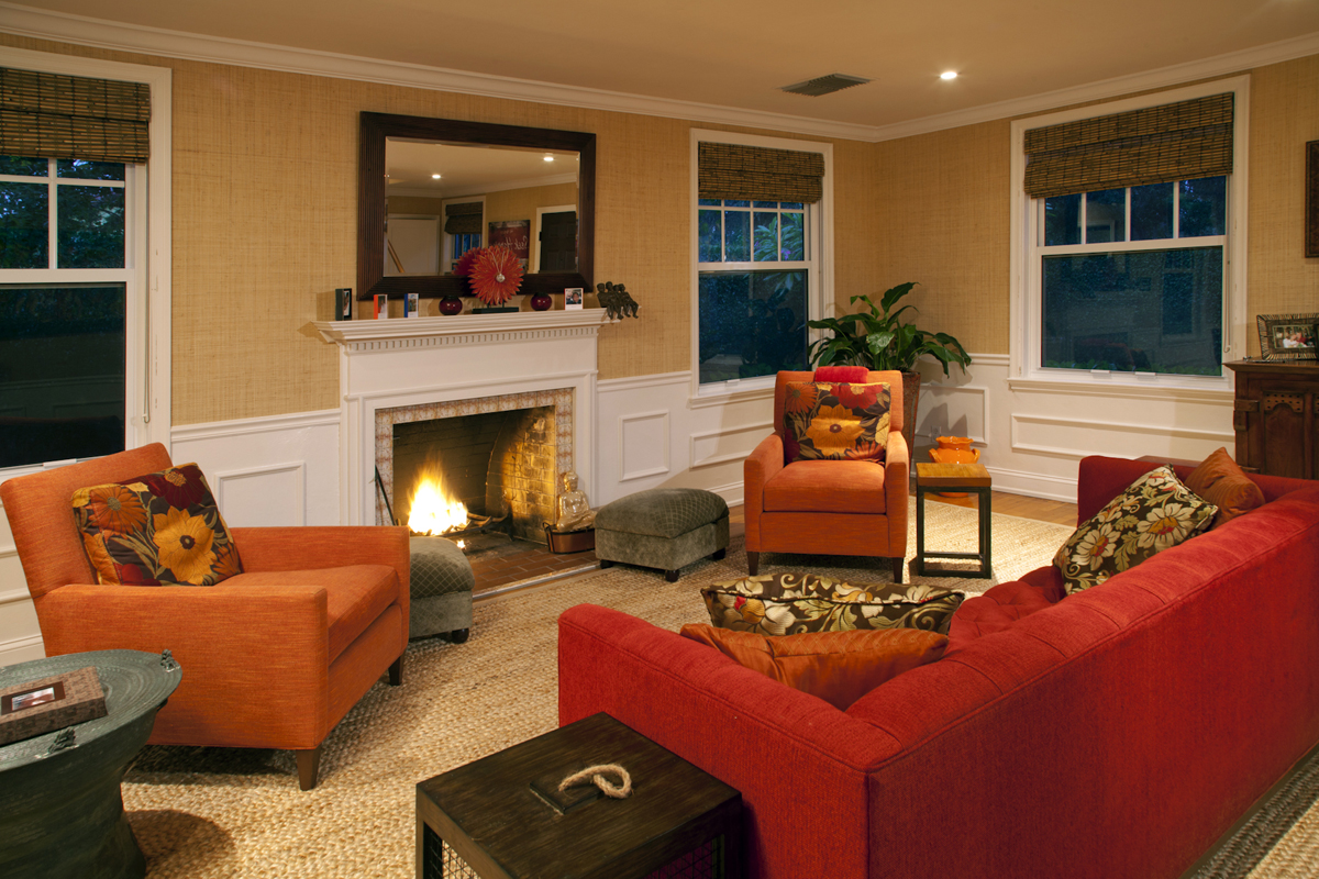 Interior living room view of Delray Beach home.