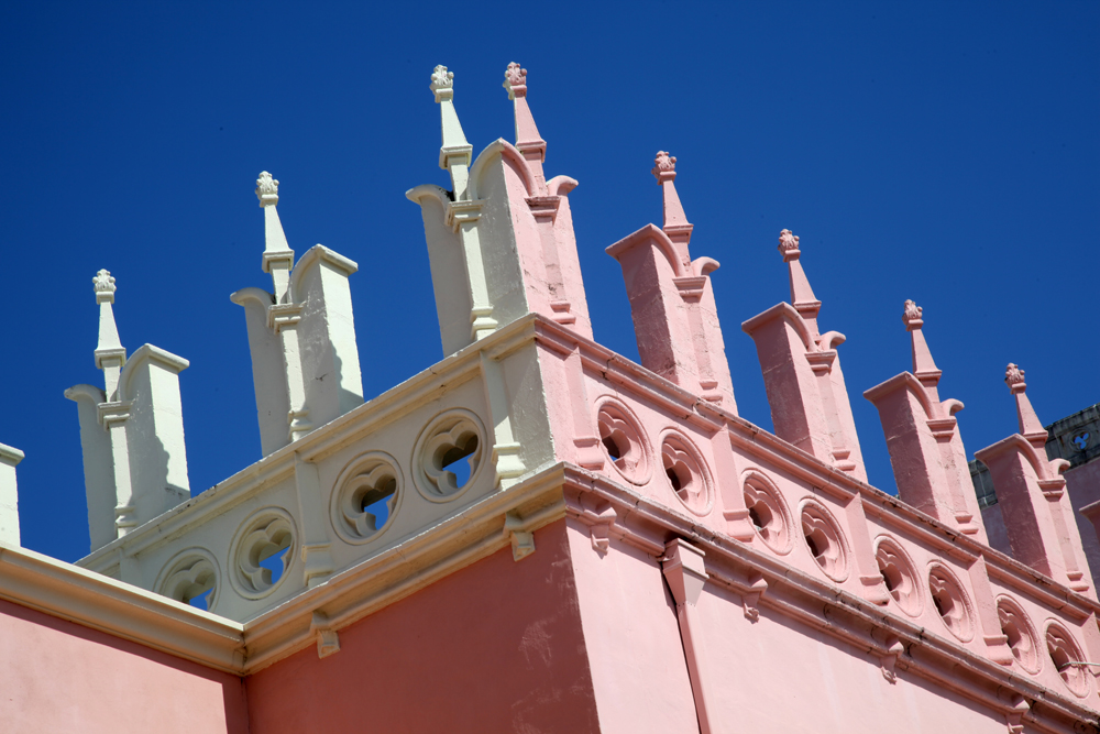 Architectural elements of the old part of The Boca Resort and Club