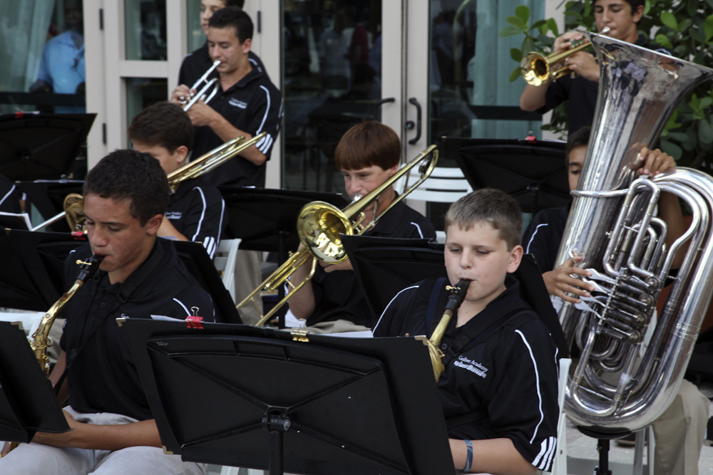 Very good young jazz band provided the entertaining.