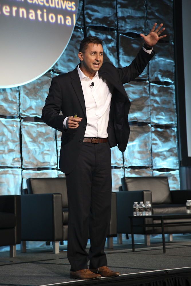 This last keynote speaker Chris McChesney was very animated and entertaining.
