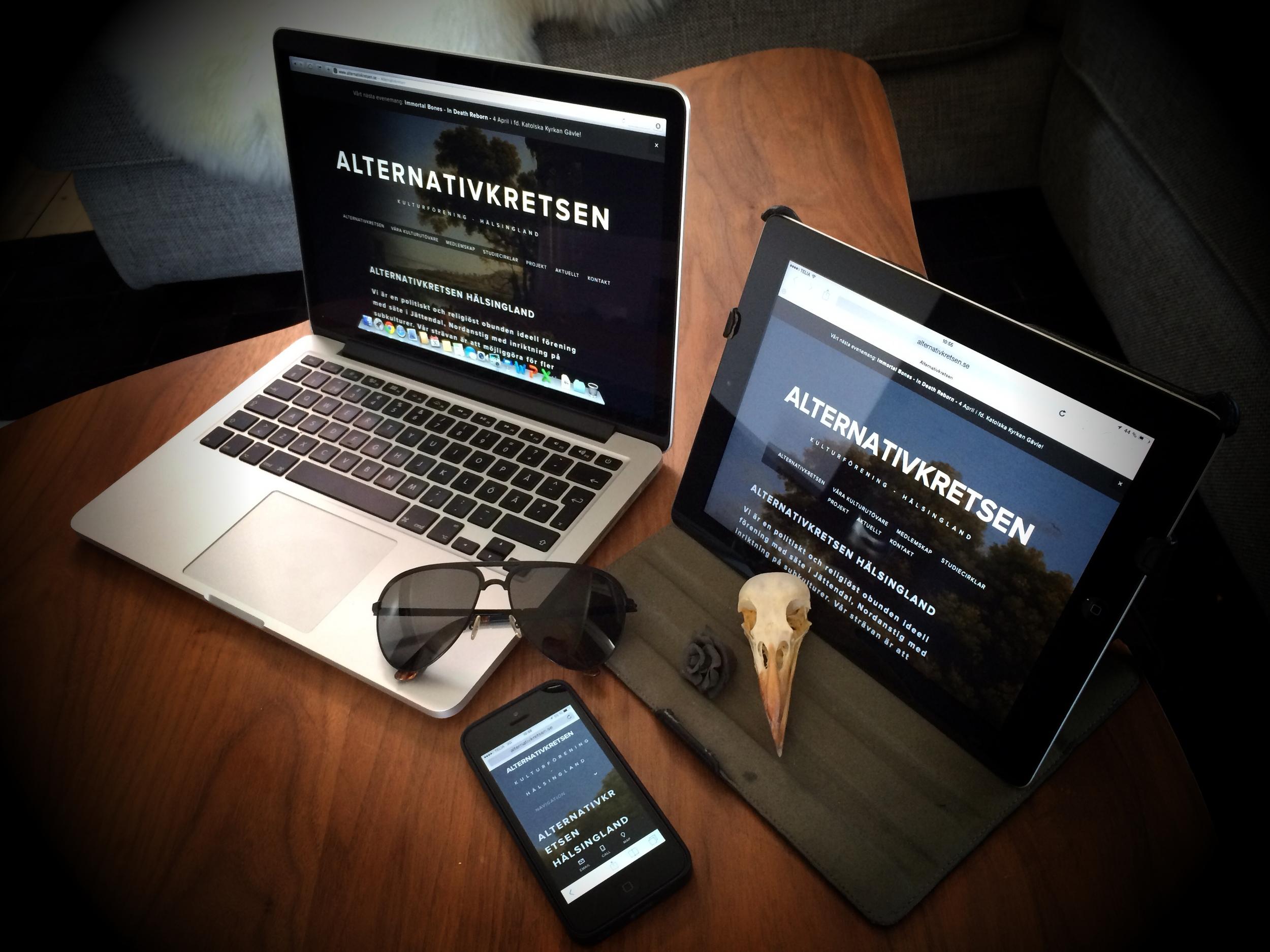 Alternativkretsen.se fungerar på desktop, mobil och platta.