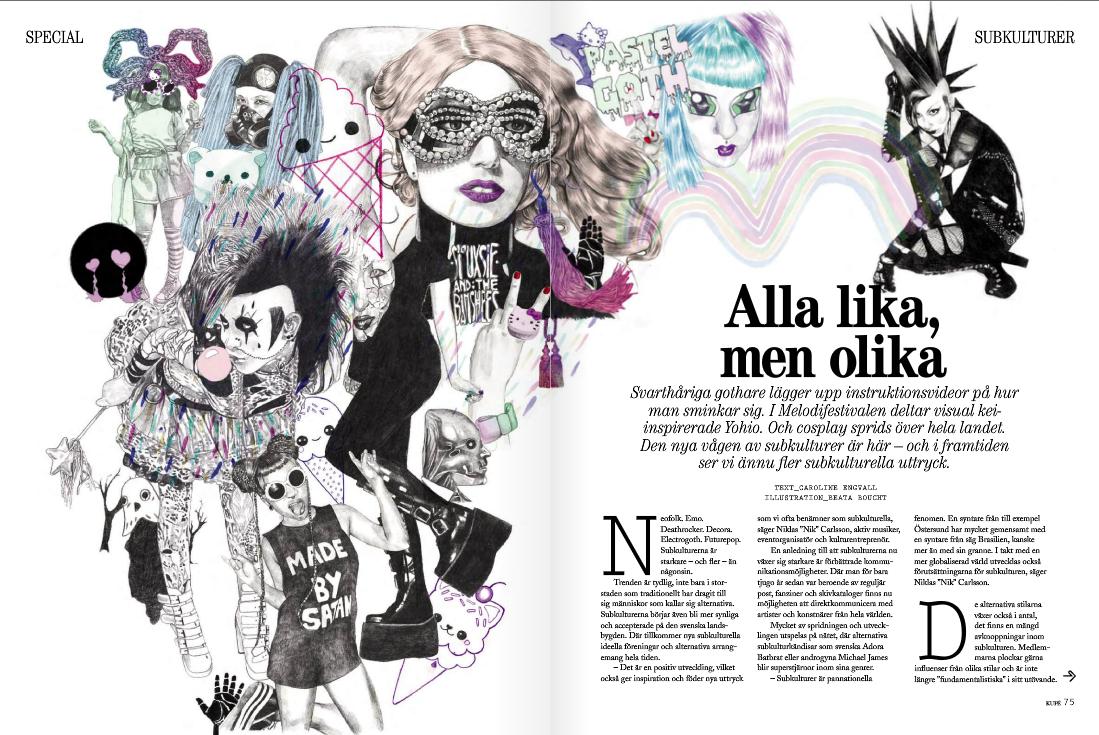Utdrag från sid. 74-75 av novembernumret av tidningen Kupé som nu tuffar fram i Sverige