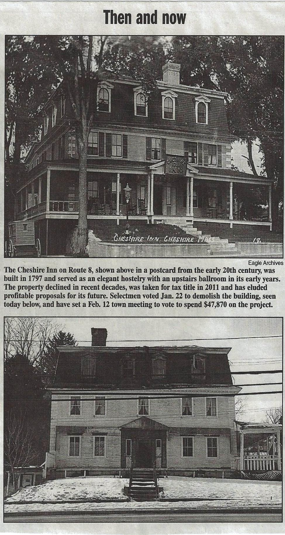 This article came from the Life & Arts Section of the Berkshire Eagle February 3, 2013. The contrast between this home with and without trees is stark!