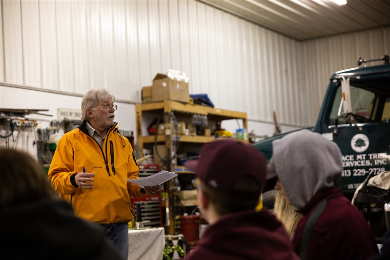 Ron Yaple spoke about his career in forestry that developed into a Arboriculture business in 1984.