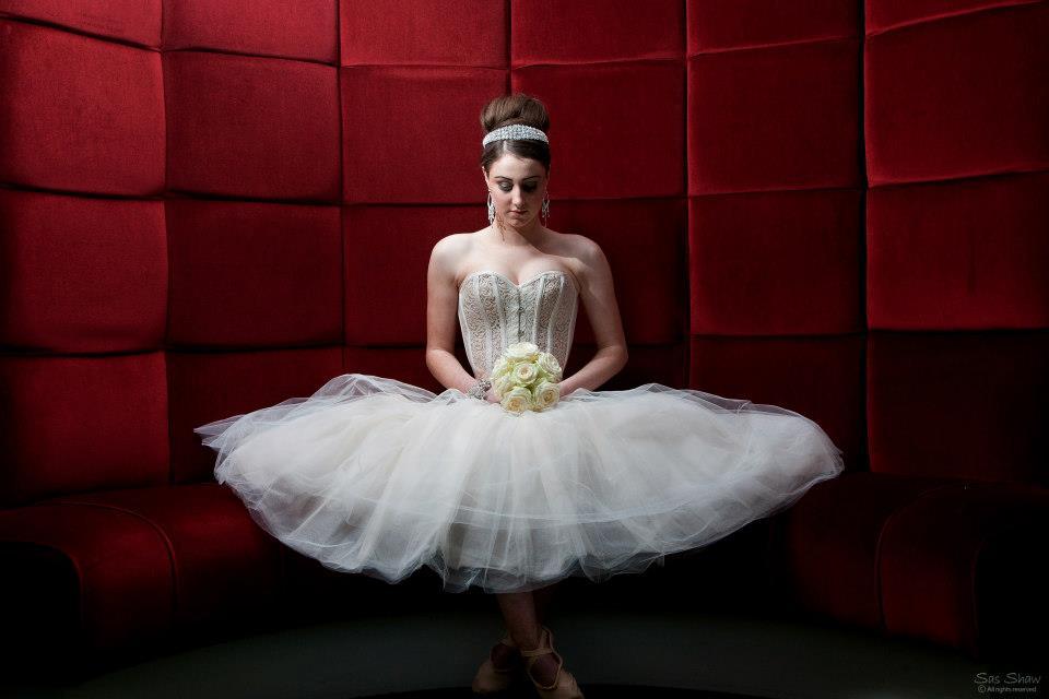 Sheer Arabesque & tulle skirt