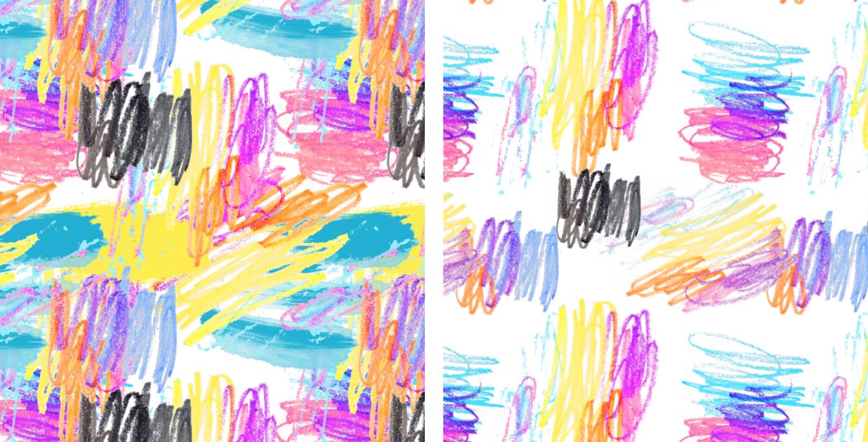 Scribbly pattern design