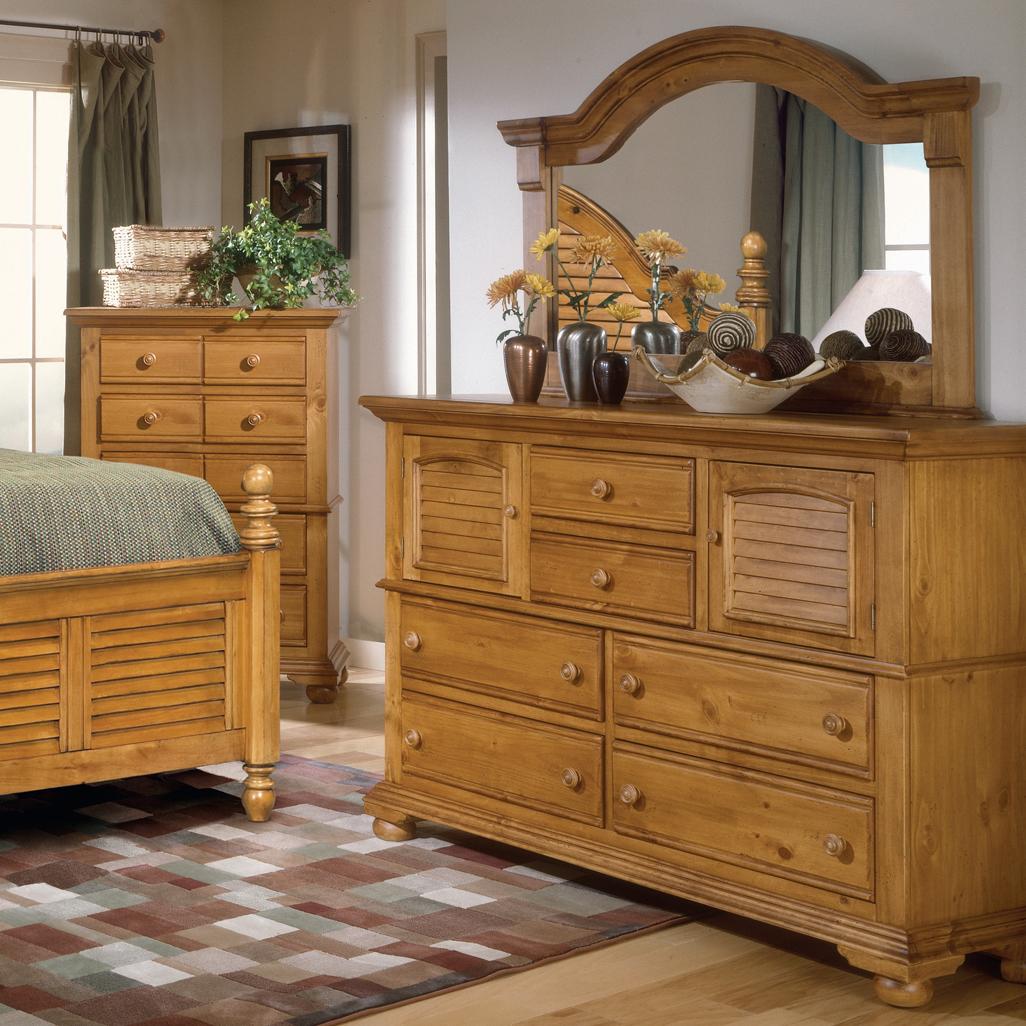 Master bedroom dresser and mirror