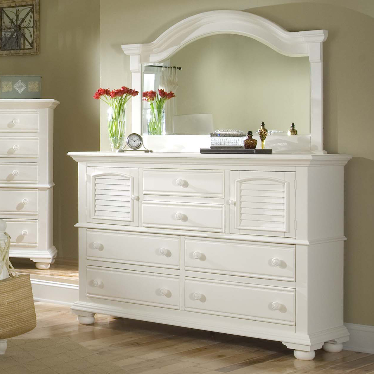 Master dresser and mirror
