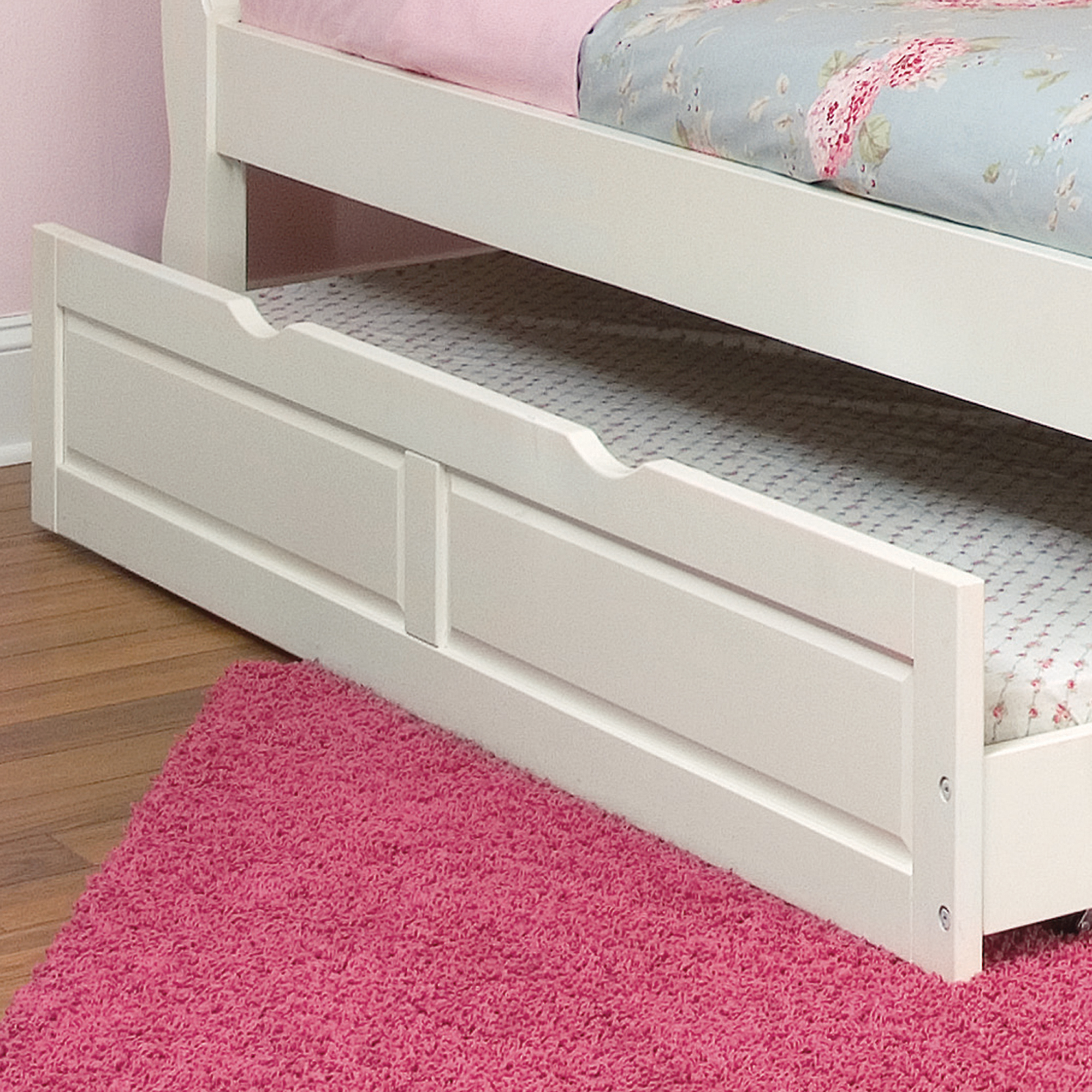 Trundle unit for extra sleeping space or storage