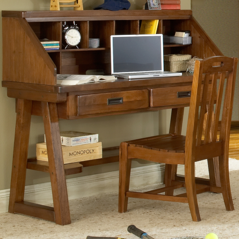 Desk, chair and hutch