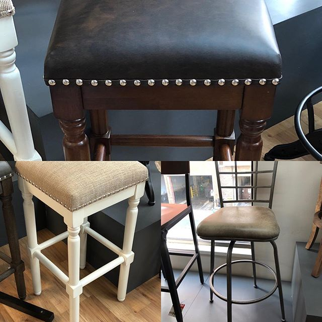 Barstools for days! We have a great selection of different styles for the home. #barstools #hpmkt2018 #hpmkt #interiordesign #decor #bar