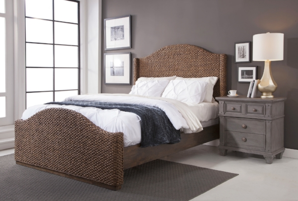 Seaside Bed with 2420 Nightstand