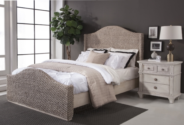 Seaside Bed with 2410 Nightstand