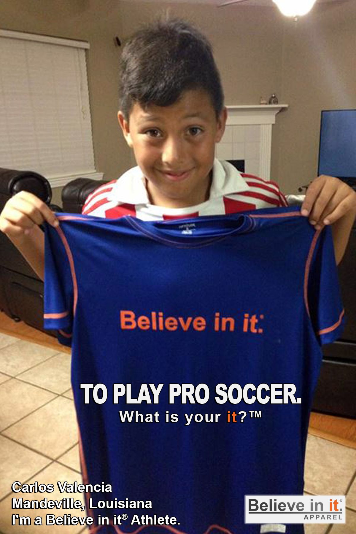 Carlos Valencia Believe in it Athlete