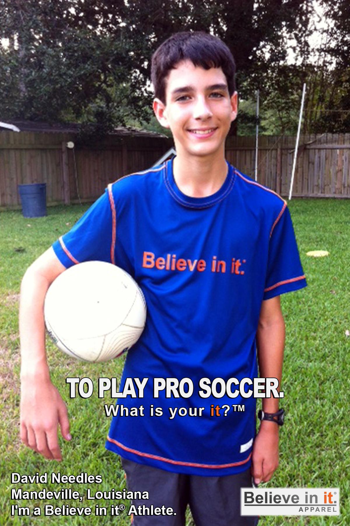 David Needles Believe in it Athlete