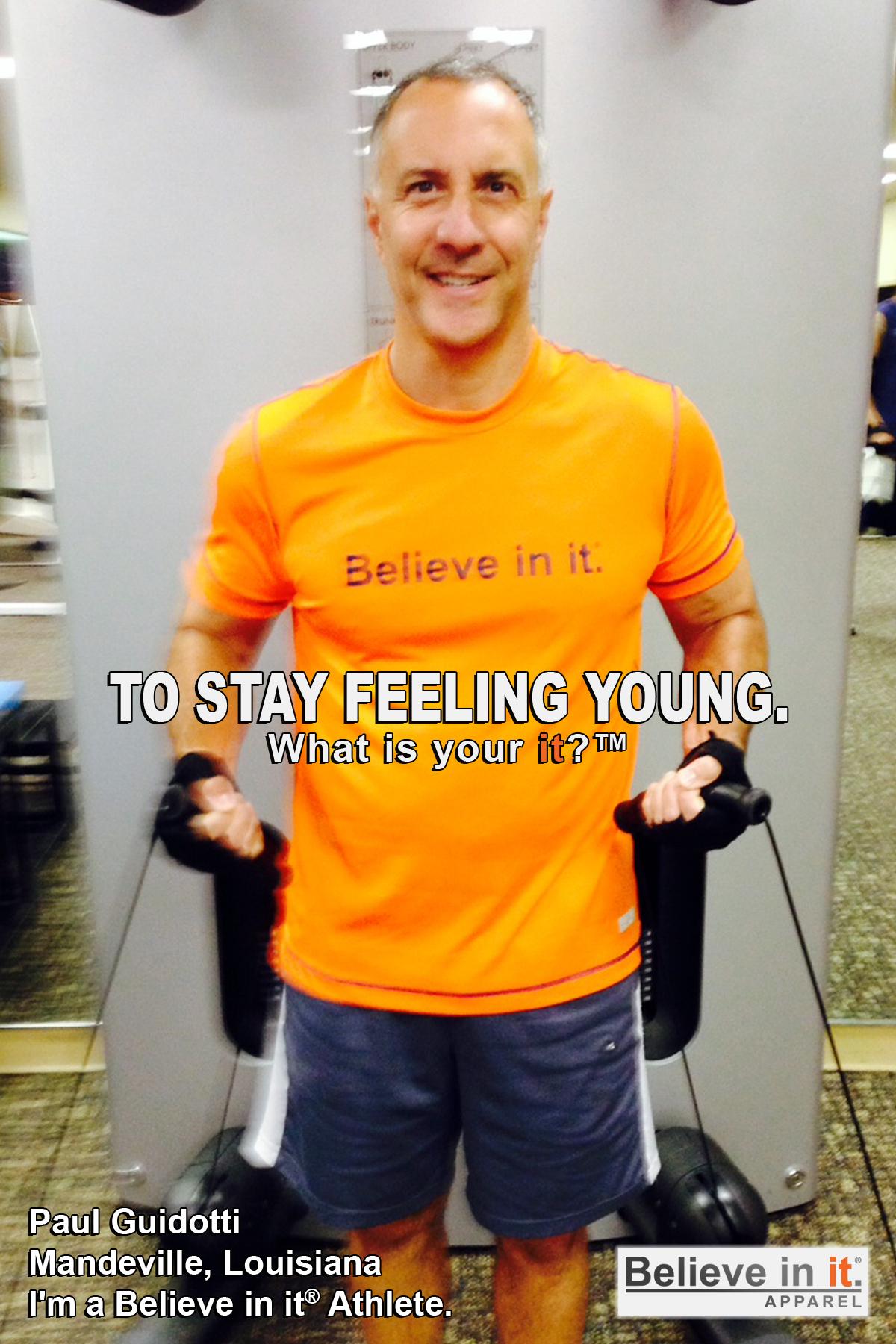 Paul Guidotti Believe in it Athlete