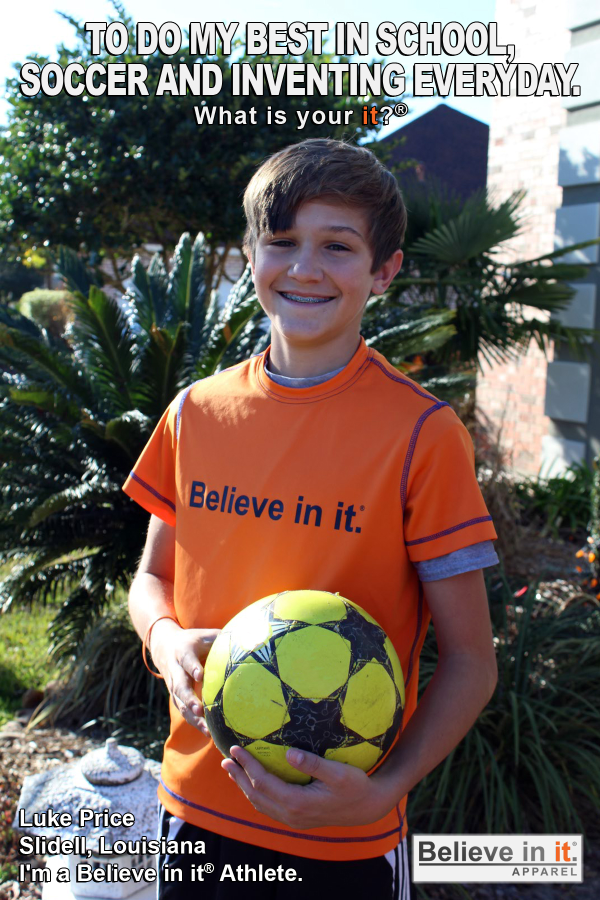 Luke Price Believe in it Athlete