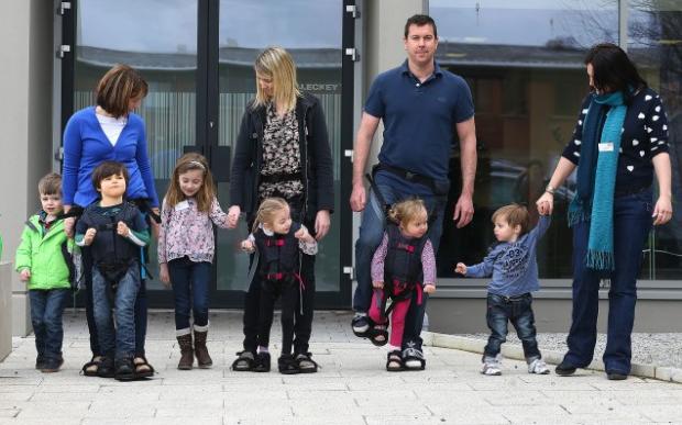 Invention Gives Paralyzed Children Sensation of Walking  April 16, 2014