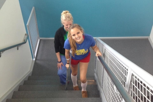 Marathon Bombing Victim Builds on her Recovery   April 23, 2014