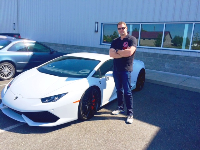 I had the awesome privilege of helping my client insure his new car, a 2015 Lamborghini Huracan.