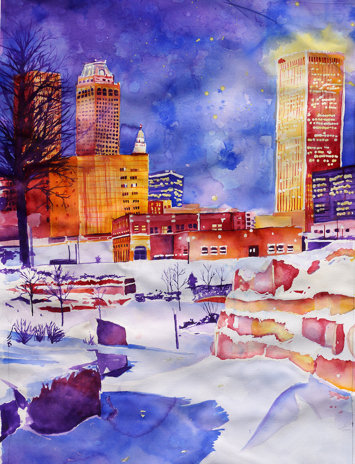 Tulsa in the Snow