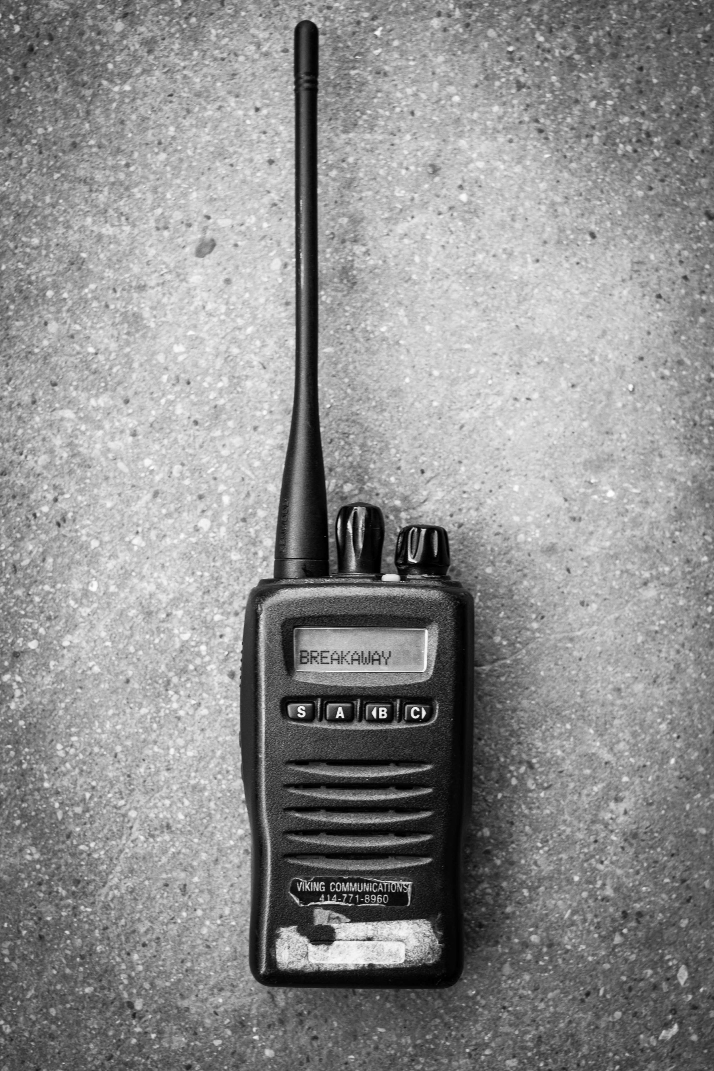 Communication is key. We use an open channel 2-way radio to dispatch our riders. Yes, it's still just as fun as you remember it when you were little.