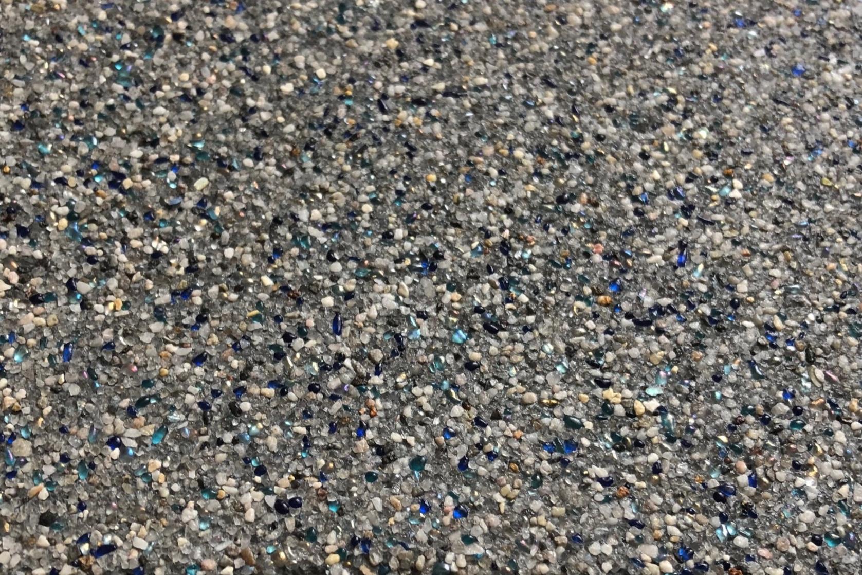 Indigo Crush - Micro Pebble with Glass -