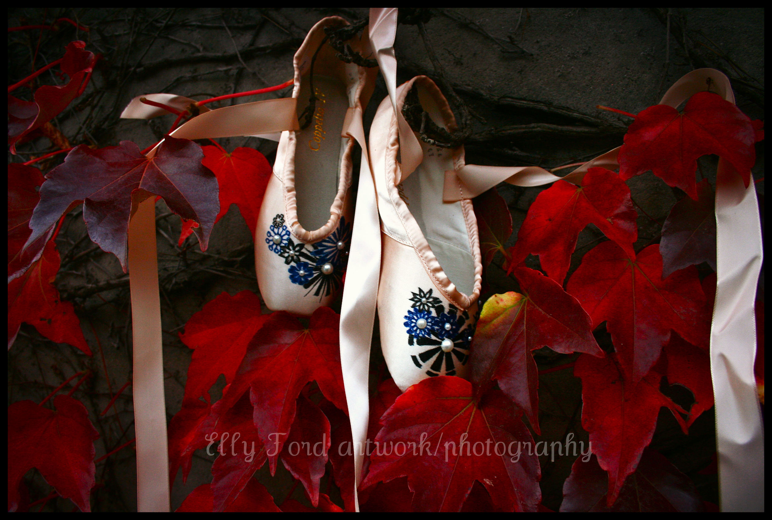 Our abstract floral pair thought they had it in the bag!