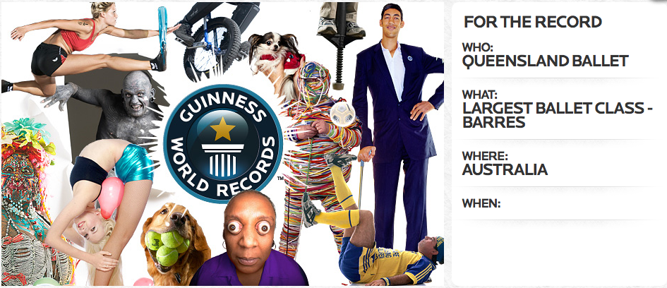 To be broken: Queenslands 2011 official Guiness World Record title.