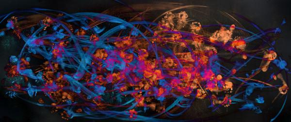 Another of Luis' pieces - Dancers: Kiyoka Hashimoto and Masayu Kimoto, digital Print