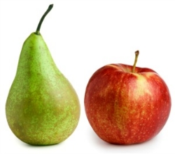 Pears and apples make the perfect snack - hydrating and filling!