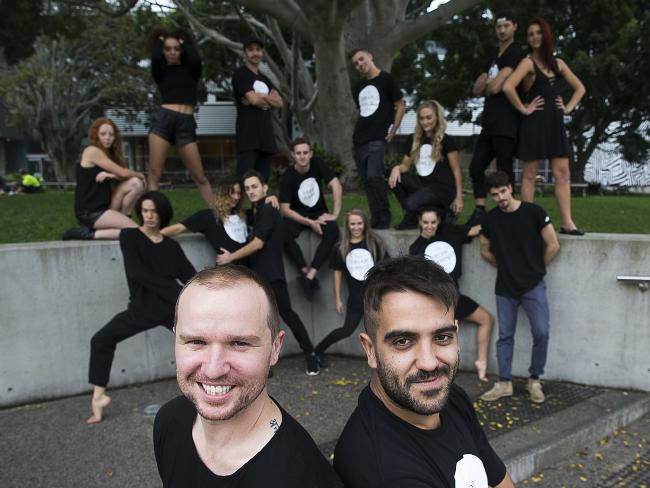 Stephen (Right) With Marko Panzic and The Dream Dance Company dancers - Image: The Daily Telegraph