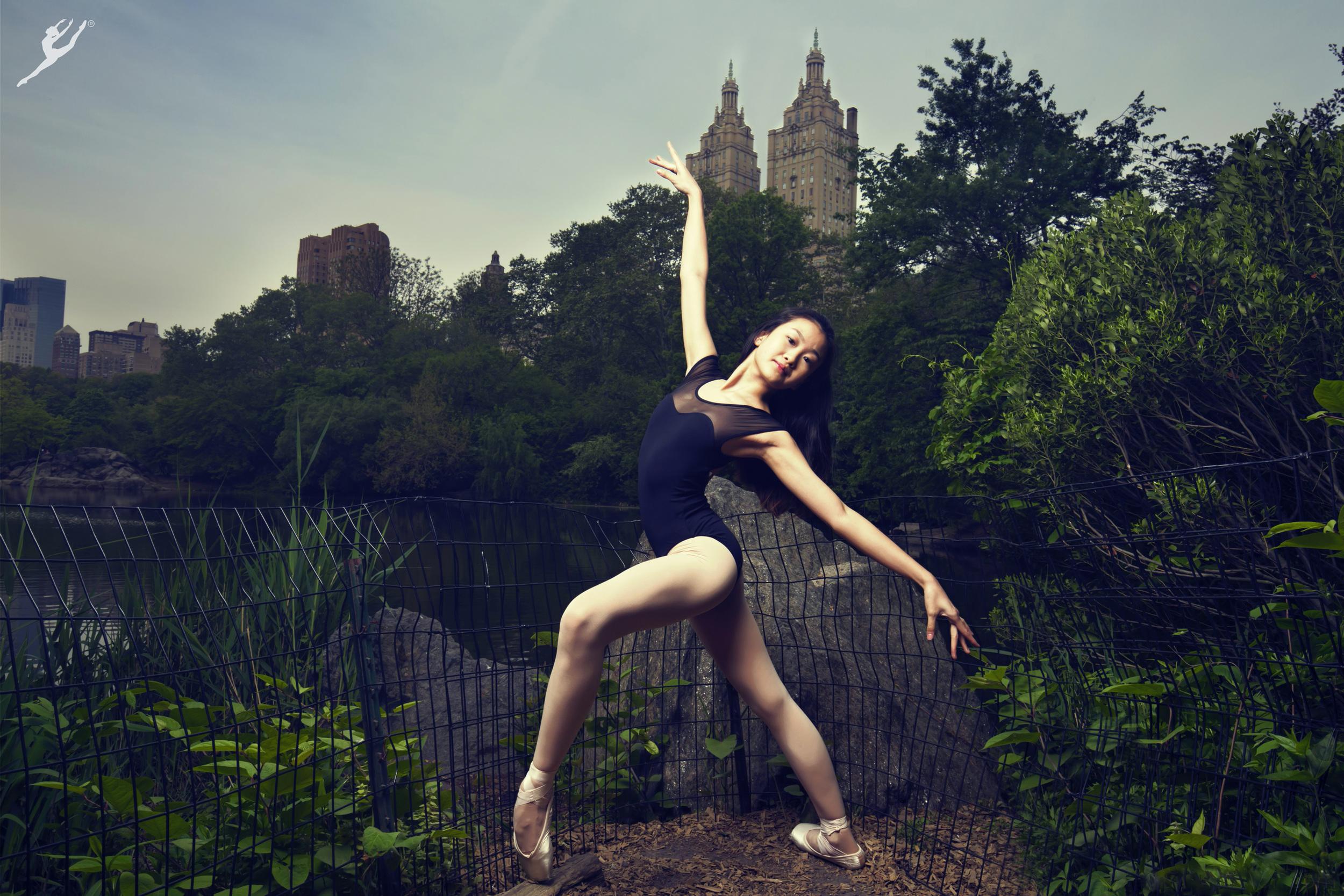 Amarra Hong in Central Park, New York for Energetiks. Photographer: Kevin Richardson