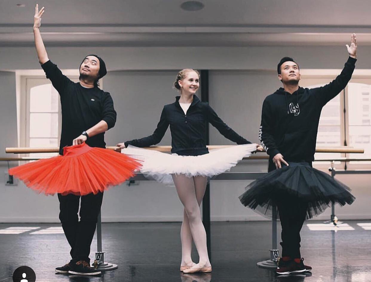 David Dang, Bianca and Little Shao having a little fun between rehearsals
