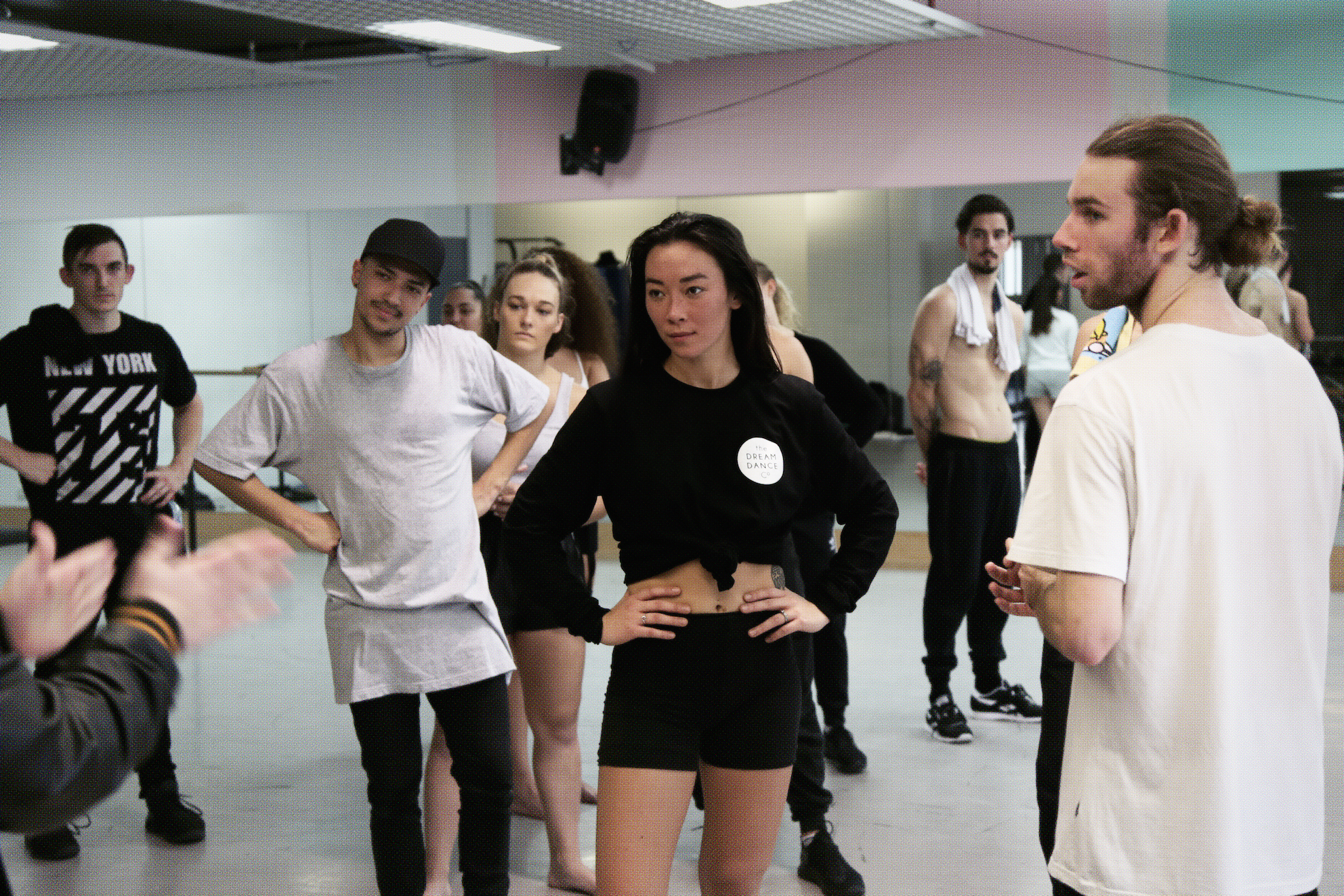 The Dream Dance Company in rehearsal for the Secret Society