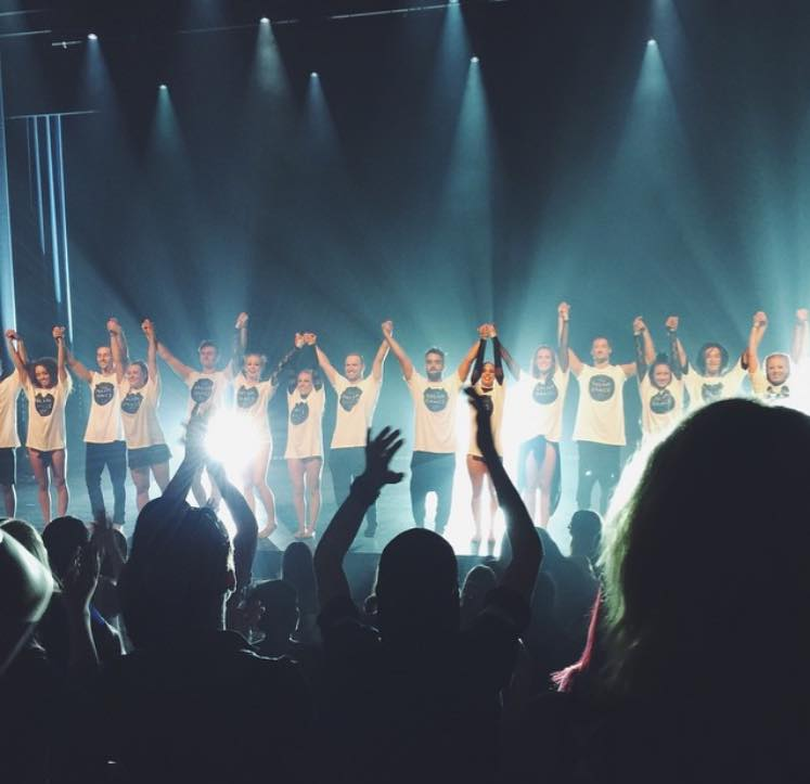 The Dream Dance Company receiving a thunderous standing ovation during Genesis - Image: DDC