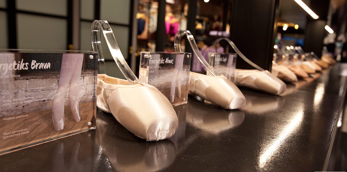 Pointe shoes galore!